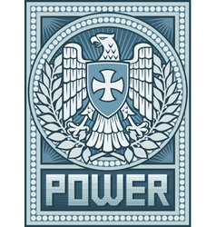 Eagle poster - Symbol of Power vector image