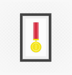 gold medal in frame vector image