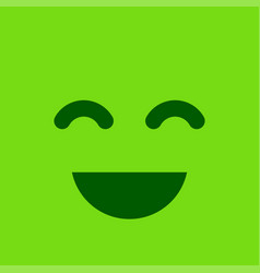 green square smiley button positive emotion and vector image