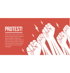 group white raised up fists arms protesting vector image