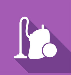 icon vacuum cleaner with a long shadow vector image