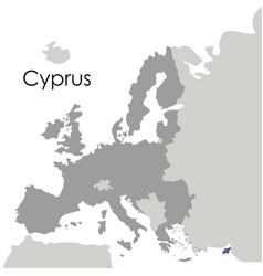 Isolated cyprus map design vector