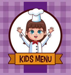 Kids menu cartoon vector