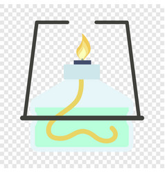 lab burner icon flat style vector image