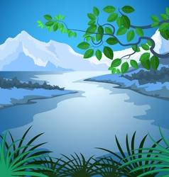 Lake scene vector