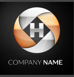 letter h logo symbol in the colorful circle on vector image