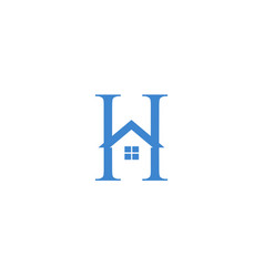 Letter h logo with home icon vector