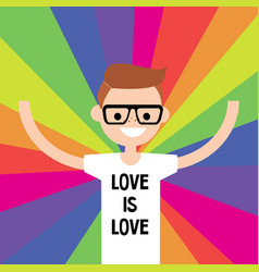Lgbtq rainbow lgbt rights conceptual flat vector