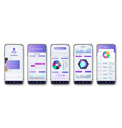 light application interface for mobile phone ui vector image