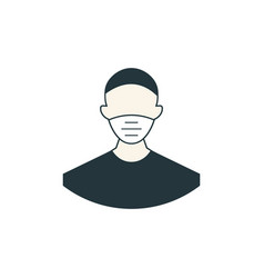 man wearing face a protective medical mask vector image