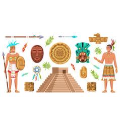 maya civilization culture incas and aztec ancient vector image