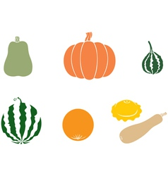 melons color vector image