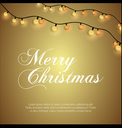 merry christmas glowing background vector image