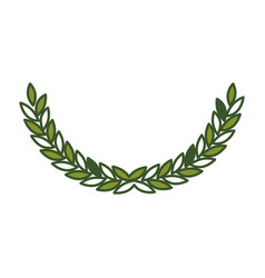Olive arch in green color vector