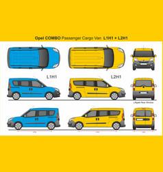 Opel combo passenger van l1h1 l2h1 2016-present vector