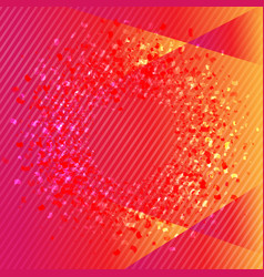 orange and pink banner with confetti vector image