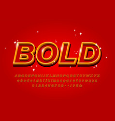 outline bold alphabet on abstract red background vector image