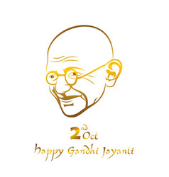 poster of mahatma gandhi for gandhi jayanti vector image