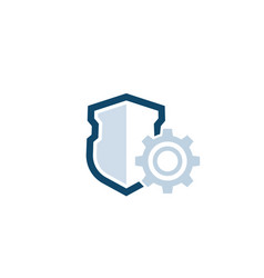 Privacy protection settings icon with shield vector