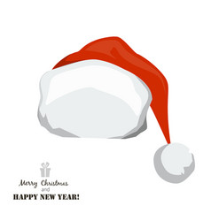 red santa claus hat on white background vector image