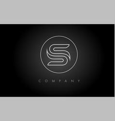 s logo s letter icon design vector image