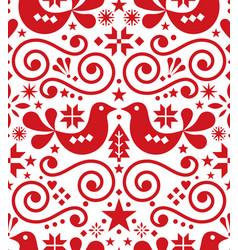 Scandinavian christmas seamless pattern vector