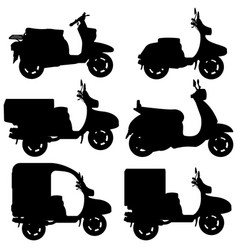 scooter contour vector image