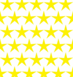 Seamless pattern of yellow stars vector image