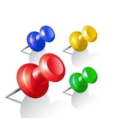 Set of push pins Thumbtack vector