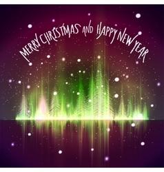 Shining Christmas tree vector image vector image