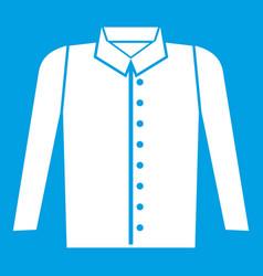 Shirt icon white vector