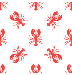 Simple lobster pattern vector