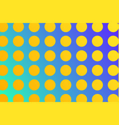 simple shining yellow circles on blue gradient vector image