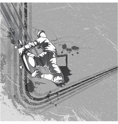 Skater with grunge background vector