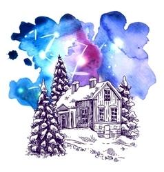 Sketch christmas vector