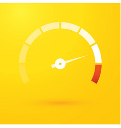 speedometer on yellow background vector image