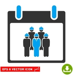 Staff Calendar Day Eps Icon vector