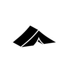 Tent icon vector