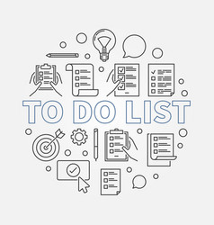 to do list round made with vector image