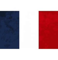 True proportions France flag with texture vector image