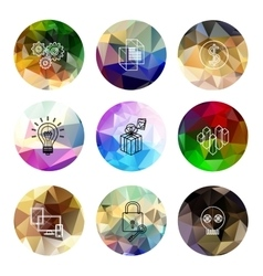 universal modern icons for web and mobile app vector image