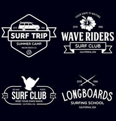 Vintage surfing emblems for web design or print vector
