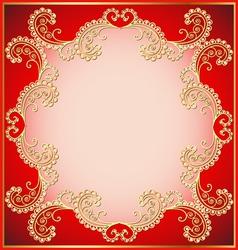 ancient background framed gold vector image