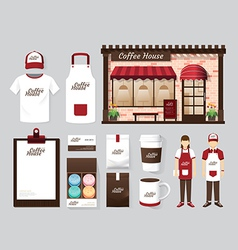 buildings restaurant and cafe shop front design vector image vector image