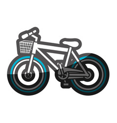 color silhouette with sport bike with basket and vector image vector image