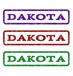 dakota watermark stamp vector image
