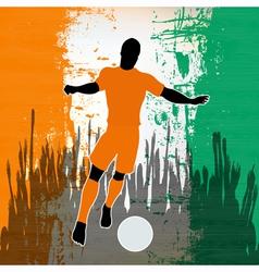 Football Ivory Coast vector image vector image