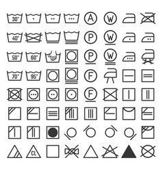 Laundry and washing icon set vector