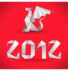 origami dragon vector image