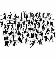 sport silhouettes vector image vector image